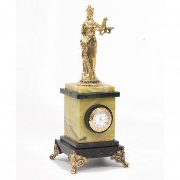 Часы фемида офиокальцит бронза 100х100х260 мм 1840 гр.