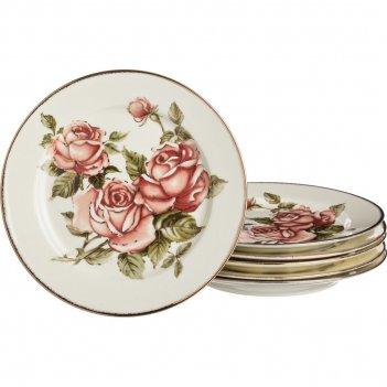 Набор тарелок из 6 шт.роза диаметр=20 см (кор=8наб)