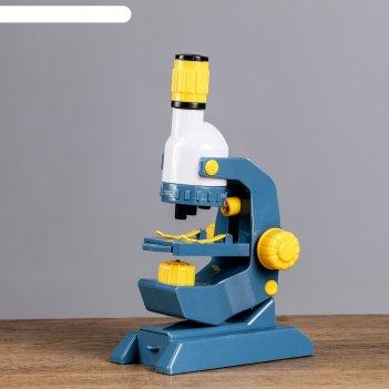 Микроскоп х100; х400; х1200 свет сверху и снизу, разноцв. линзы, 8 стекол1