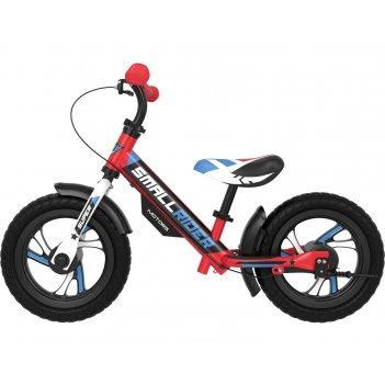Алюминевый беговел с 2-мя тормозами small rider motors (eva) (красный)