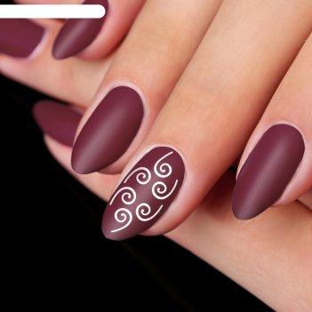Трафарет для ногтей «завитки», 9 шт на подложке