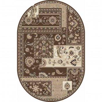 Овальный ковёр valencia deluxe d248, 100 х 300 см, цвет brown