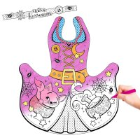 Маскарадный костюм-раскраска маленькая ведьмочка и восковые карандаши