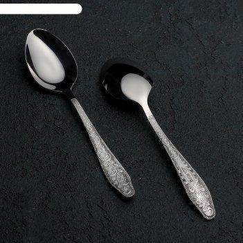 Ложка чайная «дубрава», h=13,8 см, толщина 2 мм