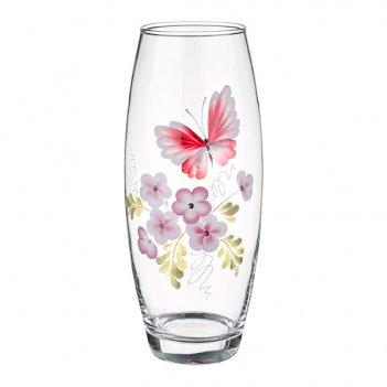 Ваза бабочка розовая бочка высота=26 см.(кор=6шт...