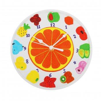 Роспись по гипсу, серия создай часы фрукты, краски 8 цветов по 2 мл