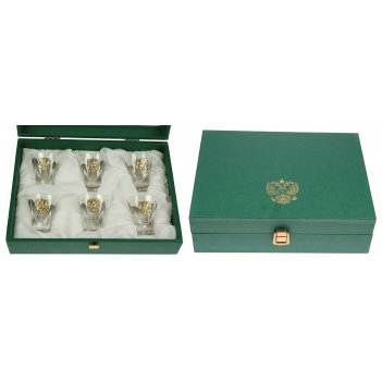 Подарочный набор стопок герб россии на 6 персон
