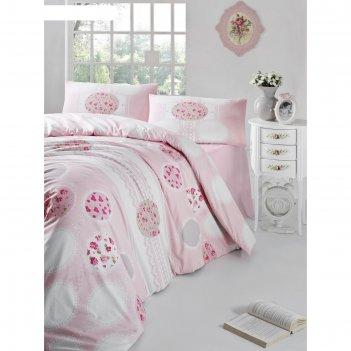 Кпб belin евро, 240х260 см, 200х220 см, 50х70 см-2 шт.. цвет розовый, ранф