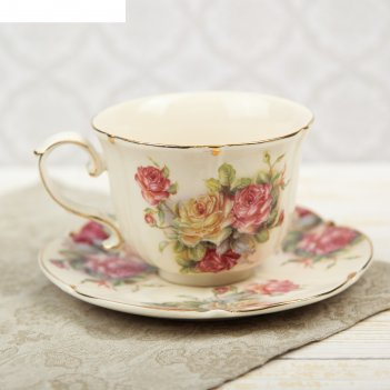 Чайная пара аврора чашка 220 мл, блюдце d-15 см