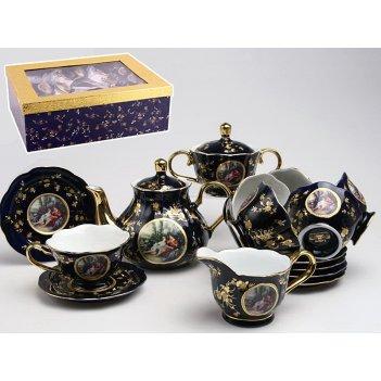 Чайный сервиз на 6 персон 15 пр.пара кобальт 850...