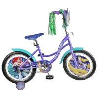 Велосипед 14 navigator disney принцессы, 2018, цвет сиреневый/бирюзовый