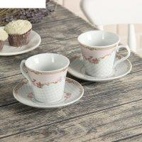Набор чайный мари, 4 предмета: 2 кружки 10,8х7,5 см, 2 блюдца 12,5 см, цве