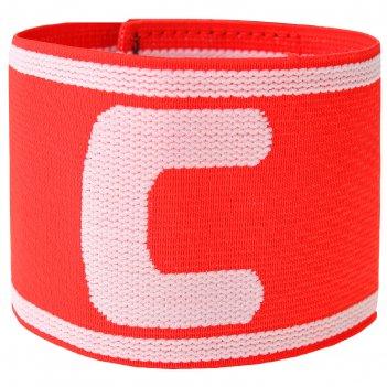 Капитанская повязка torres, нейлон, безразмерная, цвет красный/белый