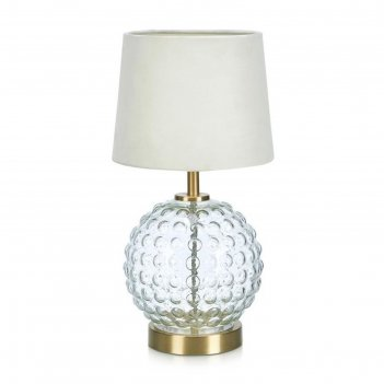 Настольная лампа bubbles 1x40вт e14 латунь, прозрачный