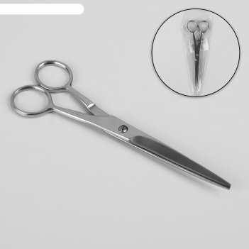 Ножницы парикмахерские, 160 мм, цвет серебристый