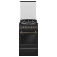 Плита hansa fcga52109, газовая, 4 конфорки, 58 л, газовая духовка, черная