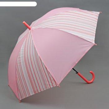 Зонт-трость, полуавтомат, r=55см, цвет розовый