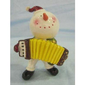 Фигурка декоративная веселый снеговик 9*5*9см