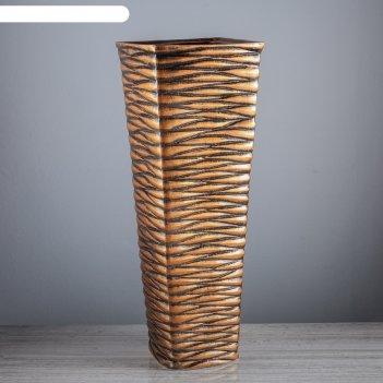 Ваза напольная квадрат, бронза, 64 см