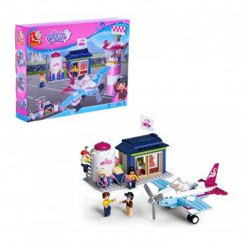 Конструктор «розовая мечта: авиаклуб», 284 детали