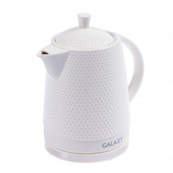 Чайник электрический galaxy gl 0507, 1400 вт, 1.8 л, керамический корпус,