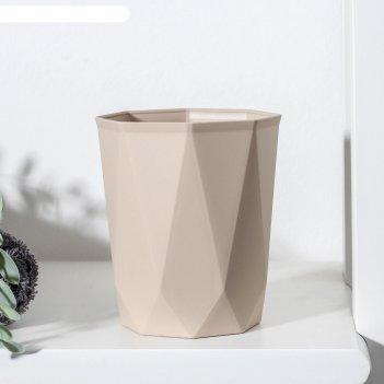 Стакан idea «призма», 9,5x9,5x11 см, цвет латте