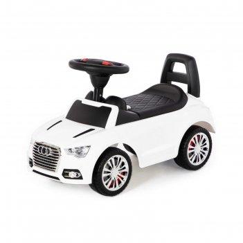 Каталка-автомобиль supercar №2 со звуковым сигналом, белый 84552
