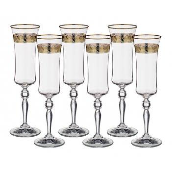 Набор бокалов для шампанского из 6 шт. грейс 190...