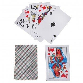 Карты игральные бумажные классика. дама 36шт., 57х88мм, 230 гр/м2