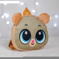 Рюкзак детский плюшевый милый мишка