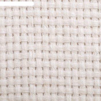 Плед шерстяной милано люкс рогожка, 170х210 см, белый, шерсть 70%, п/э 30%