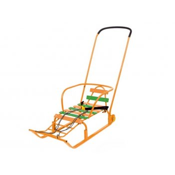 Санки тимка 8 комфорт с колесами (оранжевый)