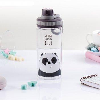 Бутылка для воды зверюшки, 500 мл, микс, 19х7х8 см