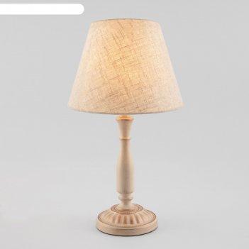 Настольная лампа london 1x60вт e27 белый, золото