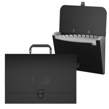Папка-портфель а4 12 отделов erichkrause megapolis черный 50517