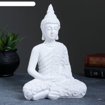 Статуэтка будда малый белый