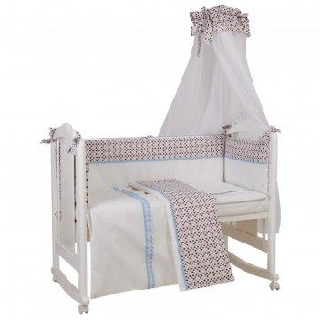 Комплект в кроватку «конфетти», размер 60x120 см, 7 предметов