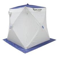 Палатка призма 150 (2-сл) стандарт в95т1, бело-синяя