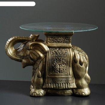 Стол слон золото 56см, полистоун