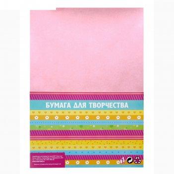 Бумага для творчества фактурная нити розовые формат а4 (набор 10 листов)