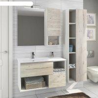 Шкаф-колонна comforty «ганновер-45» дуб дымчатый светлый