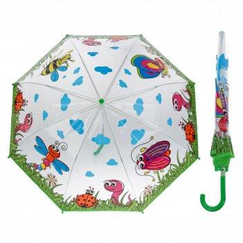 Зонт детский лесная полянка, диаметр 77 см
