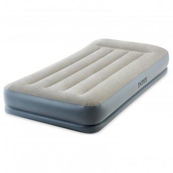 Кровать надувная pillow rest twin, с подголовником, 99*191*30см, со встоен