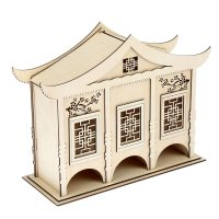 Чайный домик в китайском стиле №3 (набор 15 деталей) 33х12х25см, фанера 3м