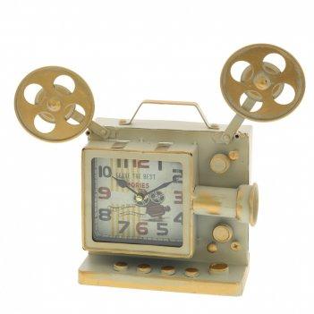 Часы настольные декоративные кинопроектор, l30 w9 h28 см, (1хаа не прилаг.
