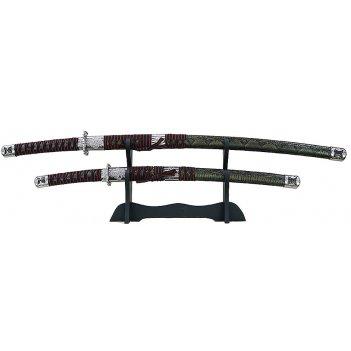 Набор самурайских мечей: катана и вакидзаси на подставке 100 см