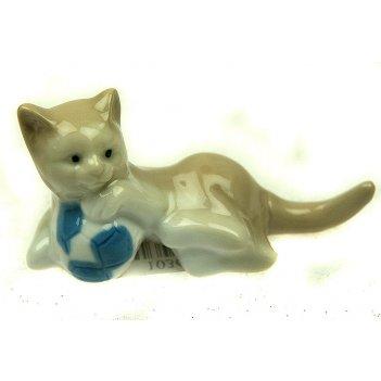 Статуэтка кошка, фарфор 8см