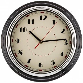Часы настенные кварцевые lovely home 29,8*29,8*9,5 см цвет:черный (кор=6шт