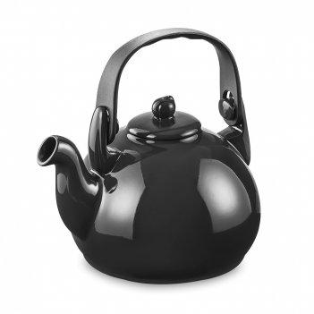 Чайник, объем: 1,7 л, материал: керамика, пластик, цвет: черный, серия col