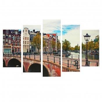 Модульная картина на подрамнике улица, 2 — 25x52 см, 2 — 25x66,5 см, 1 — 2